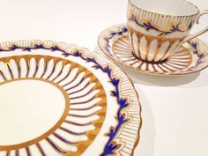 Royal Chelsea Trio, Handpainted Plate, Tea Cup and Saucer, Antique Tea Cups, 3…