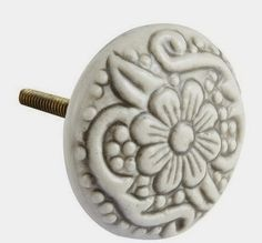 Pier 1 Antique white drawer pull| Decorating with white| White décor