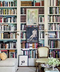 Art on Bookshelves