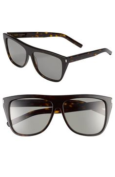 a9e5354f0c2 Free shipping and returns on Saint Laurent 59mm Sunglasses at  Nordstrom.com. Flat-