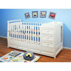 This crib is very affordable and a great solution for those who don't have much living space to work with when baby arrives. This crib was sold out everywhere on the internet and stores, but I managed to find a few in stock for the lowest price at Walmart. I nabbed it right away!