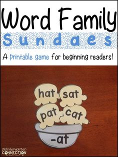 Word Family Game (and freebies) - The Kindergarten Connection