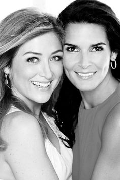 Angie Harmon and Sasha Alexander from Rizzoli & Isles. I relly like B&W photos, and this is a great one.