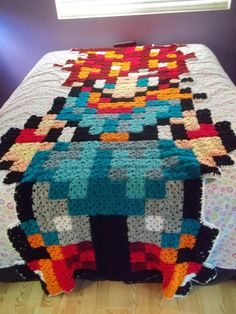 Chrono Trigger Pixel Art Blanket- this gives me so many freaking ideas- flammie and a bunch of rabites around her