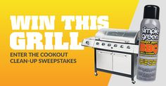 We're giving one lucky winner a new grill! Enter daily at SimpleGreen.com/summer