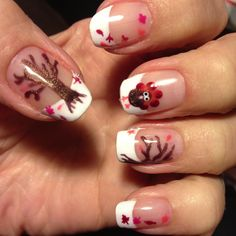 Cute Thanksgiving nails love it!  gonna do this for sure on thanksgiving day!