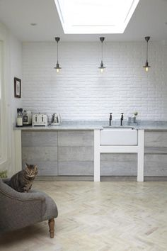 The Designer Is In: A Scandi Kitchen in a London Victorian Kitchens by Jamie Blake of Blakes London (a member of the Remodelista Architect/Designer Directory) represent a particular gold standard:. Küchen Design, Deco Design, House Design, Attic Design, Design Ideas, Modern Kitchen Design, Interior Design Kitchen, Downton Abbey, Kitchen Styling