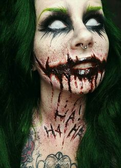 For Joker eye makeup, but without the white.
