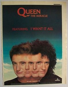 QUEEN-1989-Poster-Ad-THE-MIRACLE