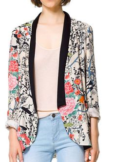 flower print open front blazer $25 (regular value of $55). subscribe at www.thiscounts.ca #thiscounts #discounts #shop #save #sale #fashion #style #blazer #coat #jacket #flowers #ootd #canada #deal
