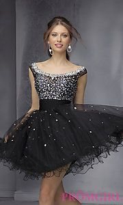 Buy Short Open Back Dress by Mori Lee at PromGirl