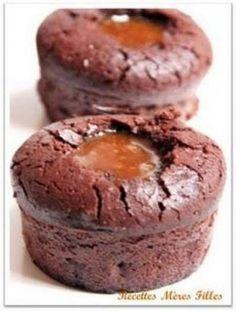 """750g vous propose la recette """"Fondant au chocolat-coeur coulant de caramel beurre salé"""" publiée par BLA."""