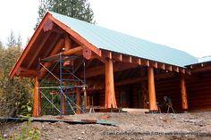 Western Red Cedar Log Carport