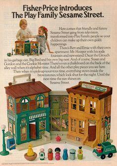 1975 Fisher Price Sesame Street Play Set Original Print Ad