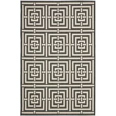 Dress up any living space with this black indoor/outdoor rug. This power-loomed rug is crafted from polypropylene to provide you with longwearing durability in any outdoor living space, but remains stylish enough for interior use as well.