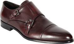 $820, Prada Cap Toe Monk. Sold by Barneys Warehouse. Click for more info: https://lookastic.com/men/shop_items/62743/redirect