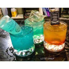"Drink Recipes! (@letsturnup) on Instagram: ""The Three Turn Ups! UV Blue Vodka,  Sweet &  Sour Splash"""