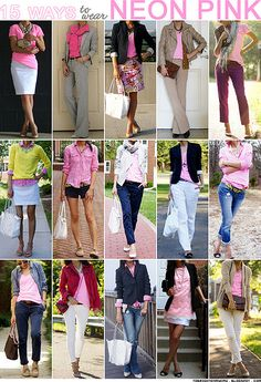 15 ways to wear neon pink by brightenday, via Flickr