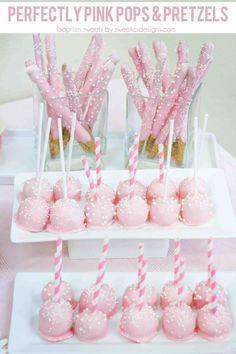 Pretty Pink Baptism Reception