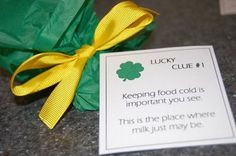 St. Patty's day treasure hunt with a fun twist at the end!
