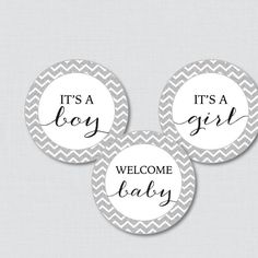 Silver Chevron Baby Shower Cupcake Toppers and Cupcake Wrappers - Printable It's a Boy, It's a Girl - Instant Download - Glitter Chevron - http://babyshowercupcake-toppers.com/silver-chevron-baby-shower-cupcake-toppers-and-cupcake-wrappers-printable-its-a-boy-its-a-girl-instant-download-glitter-chevron/
