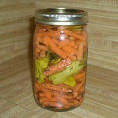 Vinegar Pickled Carrots