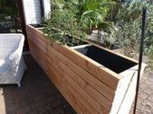 Raised bed as wind protection or privacy screen for patio and garden, do it yourself - Garden Care, Garden Design and Gardening Supplies Garden Privacy, Privacy Screen Outdoor, Raised Garden Beds, Raised Beds, Mini Zen Garden, Diy Garden, Garden Care, Zen Garden Design, Garden Styles