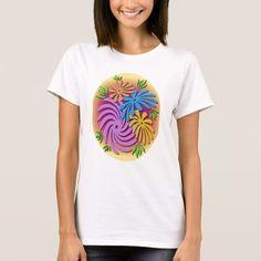 flower design girls t-shirt