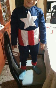Disfraz capitan america niños