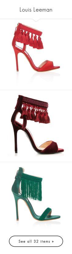 """Louis Leeman"" by livnd ❤ liked on Polyvore featuring fallwinter2017, livndshoes, LouisLeeman, livndlouisleeman, shoes, sandals, decorating shoes, embellished sandals, satin shoes and tassel shoes"