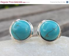 Hey, I found this really awesome Etsy listing at https://www.etsy.com/listing/176930966/sale-turquoise-earrings-blue-turquoise
