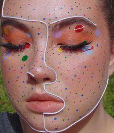 130 festival&party make-up ideas 20 Makeup Eye Looks, Eye Makeup Art, Crazy Makeup, Cute Makeup, Pretty Makeup, Makeup Inspo, Makeup Inspiration, Makeup Ideas, Hair Makeup