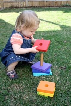 Wooden Stacker Tutorial...perfect gift for all the moms having babies this summer (and those that had them last summer too) I made 2 of these they were so easy and fun to make