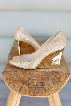 Wedge Wedding Shoes To Walk On Cloud ❤ See more: http://www.weddingforward.com/wedge-wedding-shoes/ #weddings