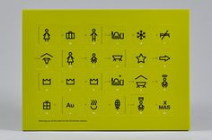 PAARPILOTEN / Advent calendar: The Christmas story told on 24 little doors: Instead of a Christmas card, this year we designed an Advent calendar for the top management consultancy Stratley. The pictograms on the 24 days tell the Christmas story.