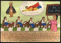 Mexican Exvoto retablo Super Hero - one of my favorites.