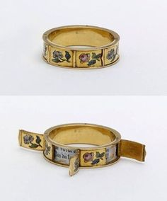 French ring with hidden love messages, 1830-1860  LOVE