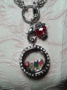 Floating Charm Locket Necklace Supports Autism by Ribbonz4Reasonz