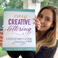 It's true! I wrote a book! 📚❤ In case you missed the big announcement earlier this week, I have a new book coming out called Easy Creative Lettering. . I'm excited because of the sheer volume of beginner-friendly info I was able to pack in. Everything from a guide to navigating the art supply store, to basic strokes and letter connections practice, to 10 unique alphabets to master. And it's loaded at the end with simple projects that I've broken down step-by-step. Creative Lettering, Brush Lettering, Calligraphy Lessons, Simple Projects, Art Supply Stores, Writing A Book, New Books, Announcement, Alphabet