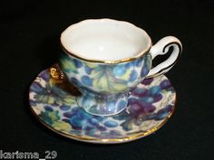 Reutter Mini Tea Cup Saucer Germany One Piece Circa Vintage 1950'S | eBay