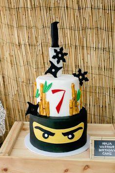 Super Party Ideas For Boys Cars Ideas Ninja Birthday Cake, Ninja Cake, Karate Birthday, Ninja Birthday Parties, Happy Birthday, Birthday Party Themes, 7th Birthday, Ninjago Party, Kolaci I Torte