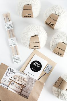knitting materials from We Are Knitters - Udon blanket edition