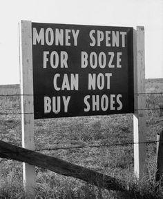 Roadside conscience sign, c.1940s. bRisTOL #pALIN teevee: #money spent on #pontoon can not buy sorely needed education.  http://pinterest.com/pin/461056080572736891/