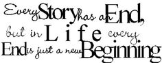 beginnings and ends - live life #quote