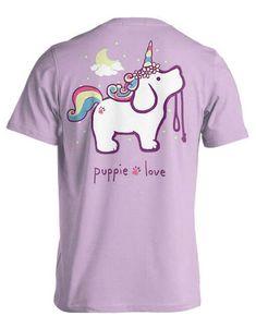 Puppie Love Unicorn Puppy T-Shirt for Women in Orchid SPL520