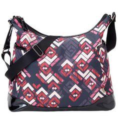 OiOi Diaper Bag Rose Chevron Hobo