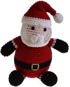Handgehäkelter Weihnachtsmann