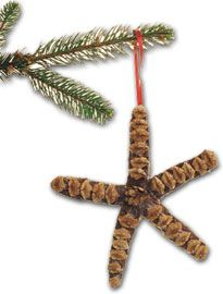 pine cone critter ornaments