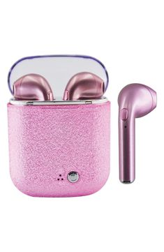 Keep your future rock star grooving to their favorite tunes wherever they go with these shimmery wireless earbuds complete with a convenient charging case. Style Name:Iscream Glitter Wireless Earbuds. Style Number: Available in stores. Cute Ipod Cases, Phone Cases, Roman Clock, Cute Headphones, Justice Accessories, Unicorn Fashion, Bluetooth Earbuds Wireless, Metal Clock, Accesorios Casual