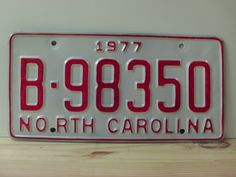 1977+North+Carolina+Rat+Rod+License+Plate+Tag+NC+#B-98350+YOM